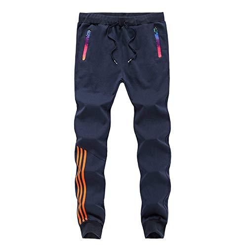 N\P Pantalones de hombre a rayas Jogger Otoño Casual Pantalones Deportivos Pantalones Rectos Pantalones