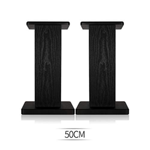 Pieds Support D'enceinte (Paire) Bibliothèque De Contour sur Support D'enceinte Professionnel en Bois Support Audio Vertical for Salon (Color : Black, Size : 50cm)