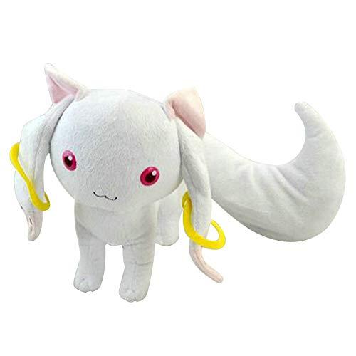 Bowinr Puella Magi Madoka Magica: Kyubey Plush Toy, 9 inch Kawaii Anime Stuffed Plush Doll Great Gift for Kids