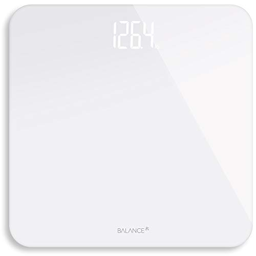 Greater Goods Digital Weight Bathroom Scale ShineThrough Display Accurate Glass Scale NonSlip amp Scratch Resistant Body Weight White