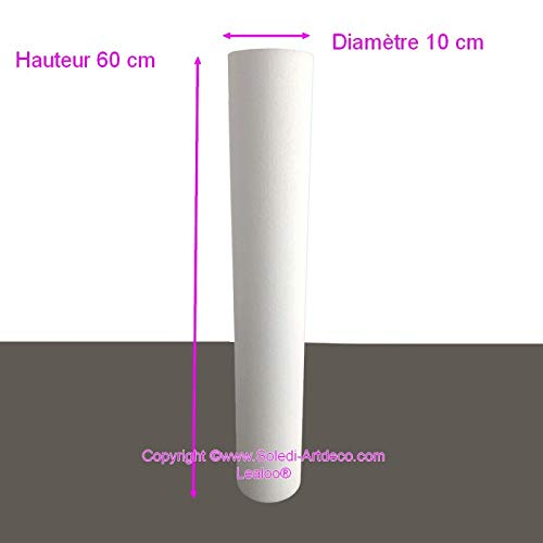 Set di 6 Grandi Cerchi in Metallo Bianco /Ø 35 cm a 60 cm Paralume Lealoo Anelli in Resina epossidica per acchiappasogni