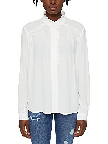 Esprit 101EE1F322 Blusas, 110/blanco Roto, 40 para Mujer