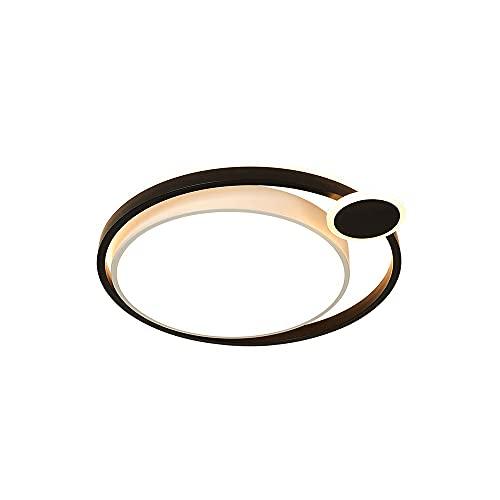 WenKaiLi Marco negro creativo, Dimmable (3000K / 4500K / 6000K) Luz de techo de montaje en color, pantalla de acrílico simple, lámpara de techo de estilo industrial, decoración interior Cerca de acces