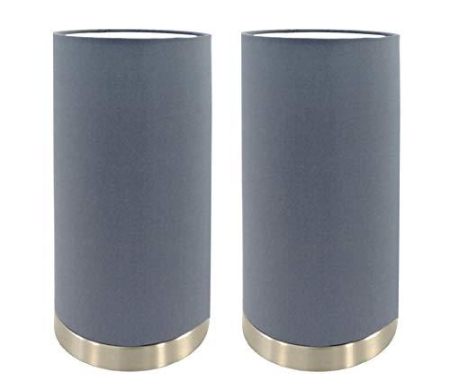 Trango Paquete de 2 Lámpara de mesa, mesilla de noche, lámpara de...