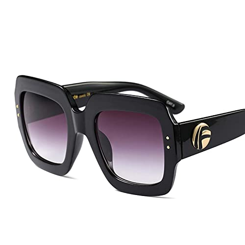 AMFG Gafas de sol de marco de tres colores de moda, Color Match Color Crystal Cool Sunglasses Outdoor Beach Travel (Color : C)
