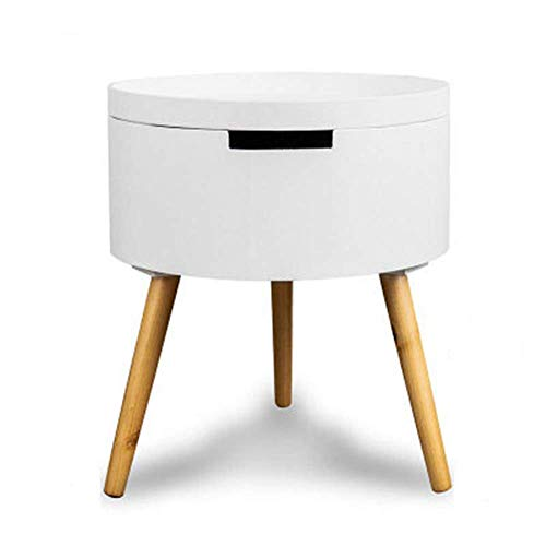 HYY-YY Pequeña mesa redonda de almacenamiento, mesa de centro redonda simple de la sala de estar