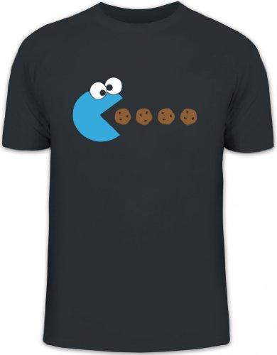 Shirtstreet24, Blue Monster, Herren T-Shirt Fun Shirt Funshirt, Größe: XXL,Darkgrey