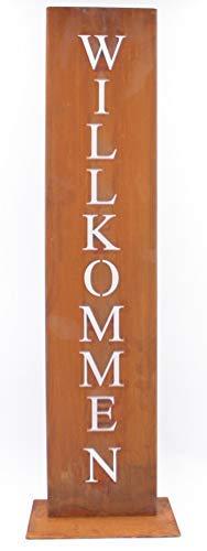 Rostikal | Personalisierte Dekoration mit eigenem Namen | Edelrost Deko Gartenschild | 71 cm hoch
