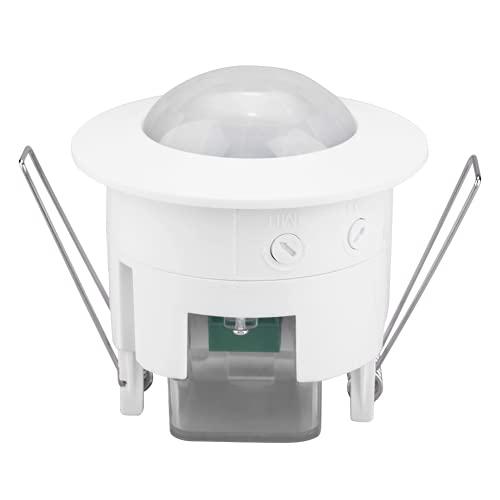 Gaeirt Interruptor de luz con Sensor de Movimiento, Interruptor de luz del Detector, Interruptor de lámpara con Sensor de reconocimiento automático para Sensor de Movimiento Humano infrarrojo