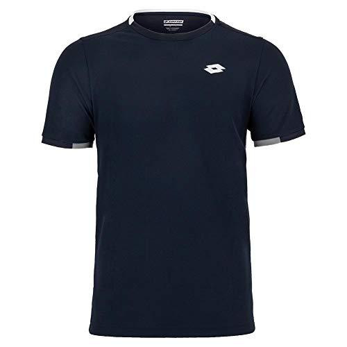 Lotto Herren, Squadra PL T-Shirt Dunkelblau, Weiß, L Oberbekleidung, L