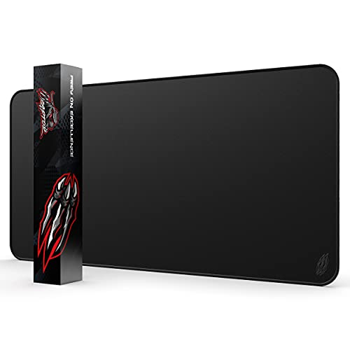 Wraptor World's Largest Gaming Mouse Pad Extended Large XXXL Black 48x24 with Stitched Edges 3XL - Laptop, Computer & PC Desk Mat - Nonslip (3XL)