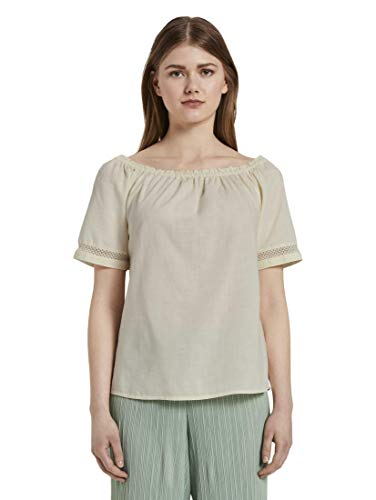 TOM TAILOR Denim Blusen, Shirts & Hemden Carmenbluse Soft Creme beige, S, 22515, 8448