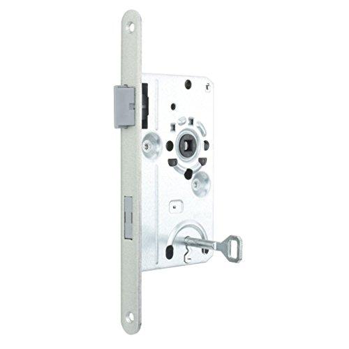 Premium M4TEC ZB6 Innenraumtür Einsteckschloss Klasse 1 - Frontplatte Farbe Silber Metallic - Robust, haltbar & leichte Montage - Elegantes Design - DIN L - Eintourig - Ideal für Wohnungs-Zimmertüren