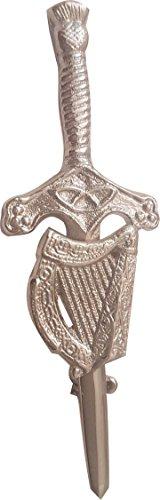McWilliams Traditional Celtic Highland Irish Harp Kilt Pins Accessory for Kilt