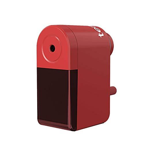 Sacapuntas de boceto de manivela/sacapuntas rotatorio de lápices manual de lápiz/cortador de carbón escolar sacapuntas mecánico cuchillo papelería 8029-rojo