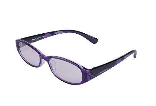 ESCHENBACH メガネ型 ルーペ シニアグラス 非球面レンズ ブルーライトカット エレガンシィ パープル +2.5度 2994-4625
