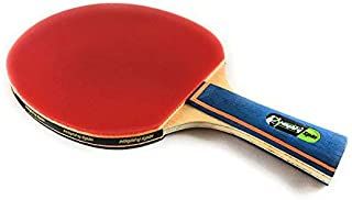 MightySpin Lightning - Increased Performance Ping Pong Paddle | Next Level Backhand Forehand Loops | Table Tennis Racket for Superb Loops Spins | 7-Ply Advanced - Pro Bat