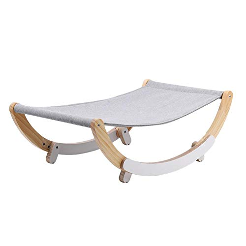 warmheart Wooden Cat Hammock Bed, Cat Kitten Swing Sleep Hammock Bed, Pet Cat Lounge Chair Swing Bed, Cat Swing Sleep Napping Hanging Mat For S-M Cats Dogs, Easy Assemble Cat Bed