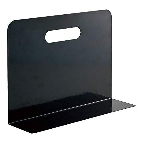 リヒトラブ ブックエンド ワイドタイプ マグネット付 黒 A7352-24 ×10 セット
