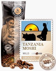 Coffee-Nation Tanzania Moshi 1000g Bohnen | Spitzenqualität | Kaffeeliebhaber
