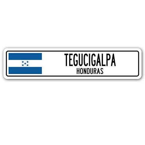 TNND New Tegucigalpa Honduras Straßenschild Honduran Flagge Stadt Land Straße Wand Straßenschild 10,2 x 40,6 cm
