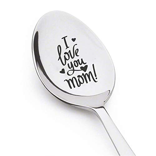 I Love You Mom Mothers Day Gift For Mom Engraved Coffee Spoon The Best Mom Unique Gift For Mummy Gift Vintage Silverware Birthday Gift For Mom Stainless Steel Spoons