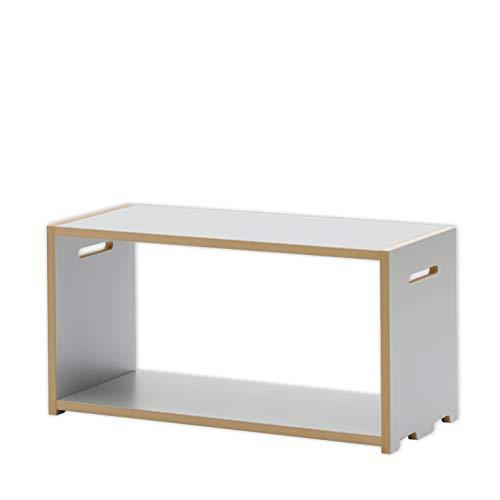 Tojo Hochstapler | Grundmodul für modulares Regalsystem | Silber | Grundmodul für EIN individuelles Wandregal/Bücherregal/CD Regal | MDF Regal