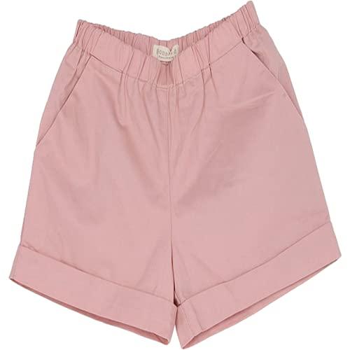 Pantalones Cortos para Mujer Verano Ocio Todo-fósforo Gran tamaño Pantalones Cortos Sueltos Simples de Color sólido Pantalones Cortos cómodos de Cintura elástica con cordón para el hogar M
