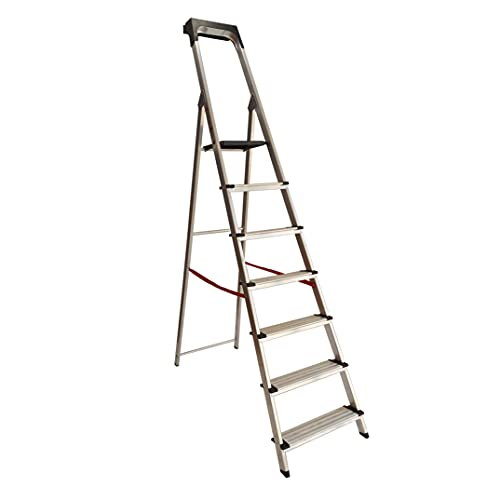 Escalera Ancha de Aluminio SUPER PLUS (7 Peldanos). BTF-TJB407