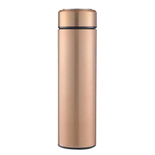 LNLW RVS Thermos for Cold & Hot dranken - Houdt Liquid warm of koud (Color : Gold)