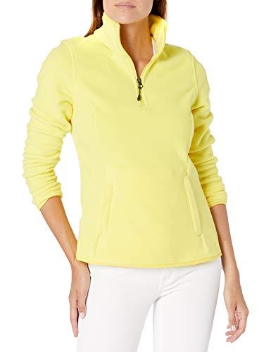 Amazon Essentials Quarter-Zip Polar Fleece-Outerwear-Jackets, Kräftiges Gelb, 44-46