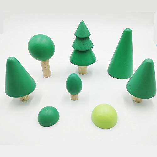 JKMQA Juguetes para bebés 12pcs 6pcs Bloques de Arco Iris Los Juguetes de Madera para niños Grandes creativos Arco Iris Bloques de construcción Montessori Educational Toy (Color : Tree)