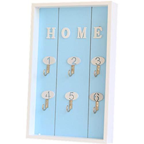 Caja de Almacenamiento de Llaves en el Zapatero de Pared, Adornos de Escritorio en la Entrada del salón(Color:Blue)