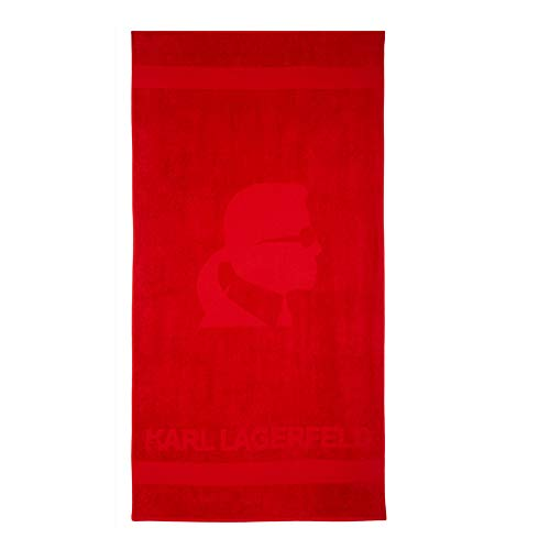 Karl Lagerfeld Strandtuch für Damen und Herren, 180 x 100 cm, Beach Pool Meer KL18TW01 Baumwolle