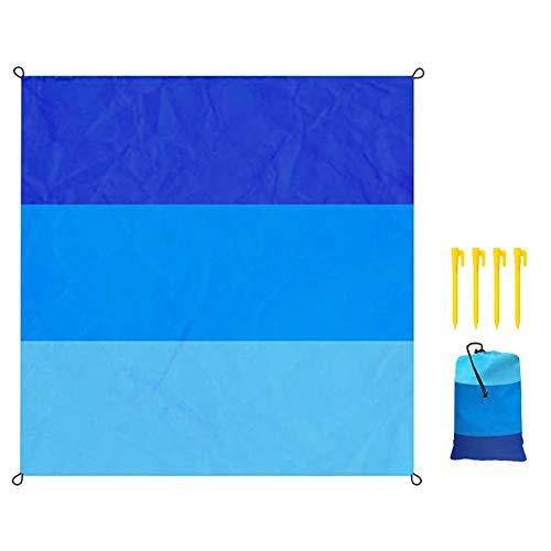 Manta de Playa Estera de Picnic Alfombra Bolsillo portátil A Prueba de Arena Manta de Nailon Resistente al Agua para Viajes al Aire Libre Camping Senderismo Picnic al Aire Libre