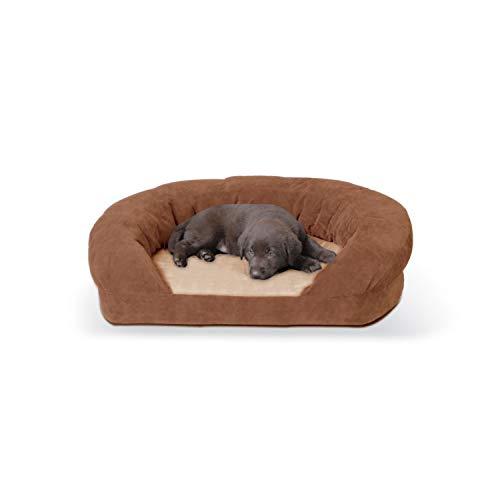 K&H Pet Products Ortho Bolster Sleeper Orthopedic Dog Bed Medium Brown