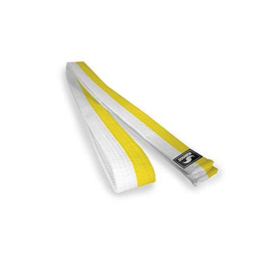 DORAWON, Cinturón blanco y amarillo de algodón, talla 220 cm