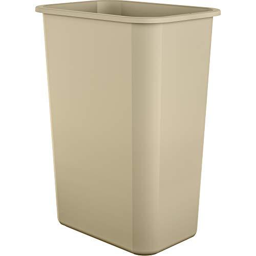 AmazonBasics 3 Gallon Plastic Commercial Trash Waste Basket, Grey, 4-Pack