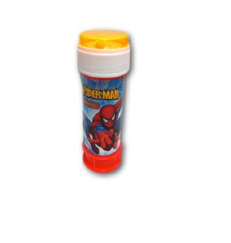 12 Tubs Of Spiderman Bubbles With Puzzle Top - Party Bag Toys (HL330) by Toyland