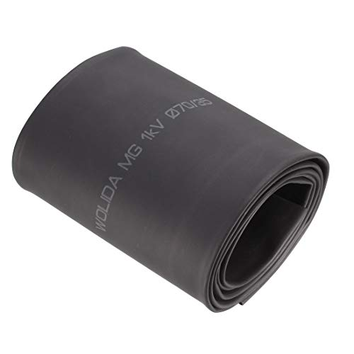 Sourcingmap gepresste flache Breite 110 mm, 70mm Durchmesser, 2: 1Polyolefin Tube sleeven Schrumpfschlauch 1m