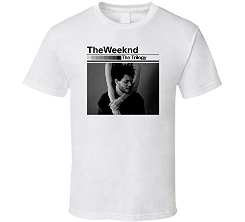 MUDAN The Weeknd The Trilogy T-Shirt Graphic Tee Mens Funny Shirt White M