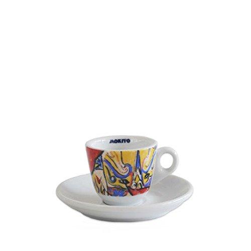 Mokito 6 Tazze Caffè Espresso Serie Graffiti con piattini