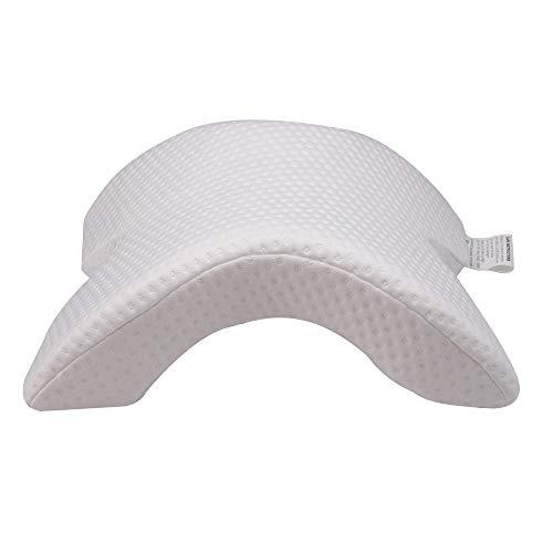 Almohada de espuma con memoria de mariposa - Almohada de contorno ortopédico para el dolor de cuello y hombro, Almohada cervical Almohada de cama ergonómica, almohada de algodón con arco arqueado
