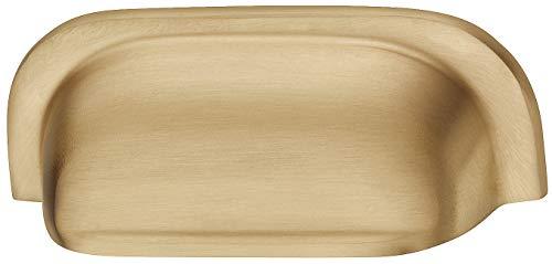 Gedotec schelphandvat schuifdeur schuifdeur schuifladengreep metaal schaal handvat Vintage - FABIO | antiek zwart mat | meubelgreep keuken om te schroeven | 109 x 42 mm | 1 stuk - greepschelp in landelijke stijl modern 1 Stück - Messing gebürstet Messing goud-look