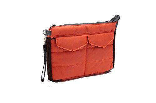 Travel Organizer Pouch Bag para Tableta o Computadora con Compartimentos Múltiples - para Bolsa en Bolsa, Artículos de Tocador, Maquillaje, Tabletas, etc. (Rojo)