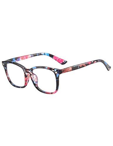 Zhhlaixing Unisex Computerbrille Retro Brillenfassung clear lens - Herren Damen Dekobrillen Slim-Brille Brillengestelle mit Brillenetui