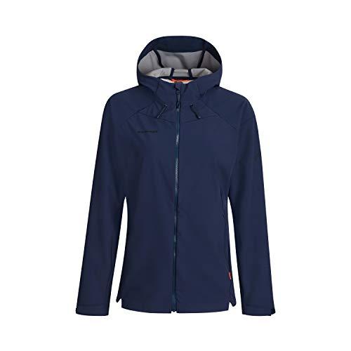 Mammut Damen Sapuen Hooded Softshell-Jacke mit Kapuze, Blau (peacoat), L