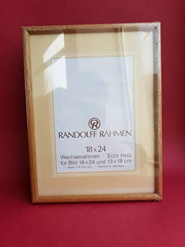 Randolff Natur-Holz-Rahmen holzfarben hell 18x24 (13x18 mit Passepartout)