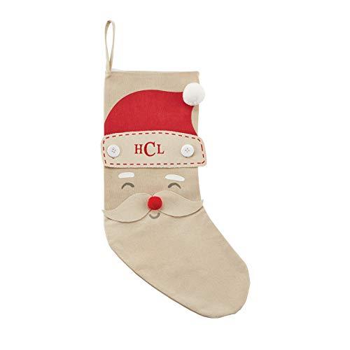 Mud Pie (Santa Christmas Personalized Stocking, 19' x 11.5'