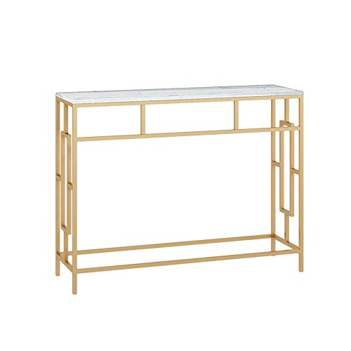 OuPai Table Console Table,Narrow Side Table Corridor Wall Table Entrance Cabinet No-Assembly Tall Sofa Entryway Table White/Black 30 × 11 × 30 Inch for Living Room Bedroom (Color : White)